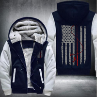 2017 Hot Man Winter Hoodies Sweatshirt American Flag Pattern Printing USA Size