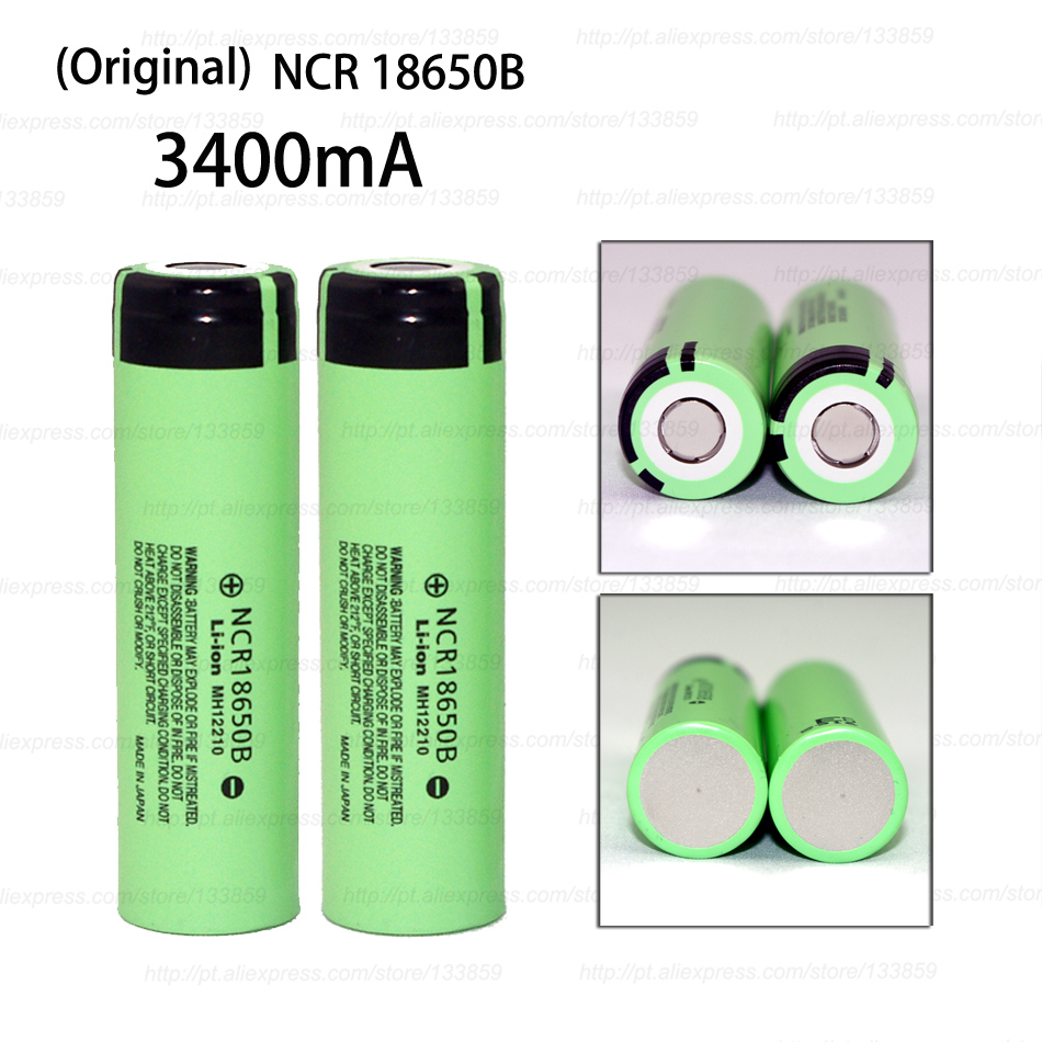 2PCS New Original NCR18650B 3400mAh 18650 power bank battery 3.7V Li-ion Rechargeable battery for panasonic Electric tools, toys 2pcs lot new protected original 18650 battery 3 7v 3400mah ncr18650b li ion rechargeable batteries for panasonic free shipping
