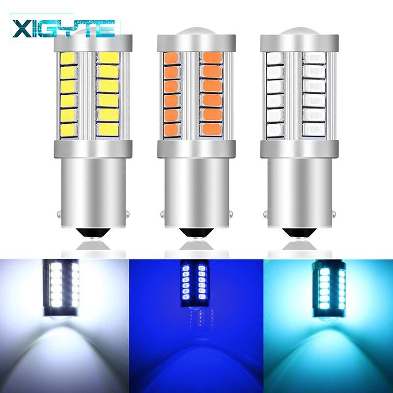 1156 1157 p21/5 w bay15d super brilhante 33 smd 5630 5730 led luzes de freio nevoeiro lâmpada 21/5w carro luz circulação diurna parar lâmpadas 12 v
