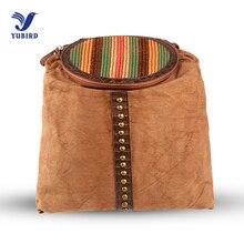 Yubird бренд стильный рюкзак повседневные винтажные женские рюкзак мешок заклепки лоскутное вязать Выходные Сумка Дорожная Рюкзак женский 2017
