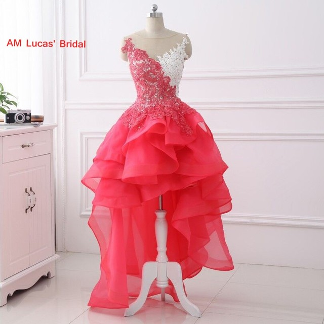 New Homecoming Dresses High Low Lace 8th Grade Prom Dresses Sweet 16 ...