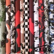 bca9784cb7e98a ORINO Premium Vinyl Samochodów Wrap Czarny Biały Niebieski Czerwony Zielony Camouflage  Camo Film Naklejka Na Samochód Skuter Mot.