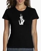 Spring Summer At A Loss T Shirt Women Audrey Hepburn Short O Neck Casual Knitted Hip