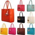 New Famous Brand Fashion Elegant Girls Handbags Women Bag Leather Shoulder Bag Candy Color Flowers Tote Handbag bolsas feminina