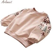ARLONEET/Одежда для маленьких девочек; толстовки с цветочным принтом для девочек; Милые свитшоты для маленьких девочек; детская толстовка с капюшоном