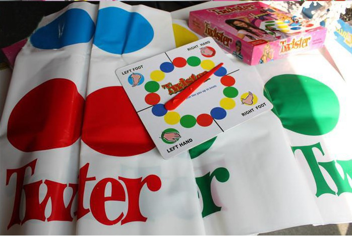 New Hot Classic Twister Game That Ties You Up In Knots Board Games for Party Family Children Friend Board Game ...