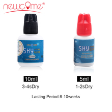 NEWCOME All Eyelash Extension Glue Fast Drying Korea Import Glue Eyelash Extension Glue Over 8 Weeks Professional Tools Make Up 5ml eyelash extension glue obrm fast drying adhesive glue for lashes salon last over 6 weeks professional crafter lash glue