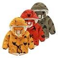 Bebé tire del tubo chaqueta wadded 2015 invierno ropa de abrigo infantil de los niños masculinos, además de terciopelo niños de algodón acolchado prendas de vestir exteriores de la chaqueta