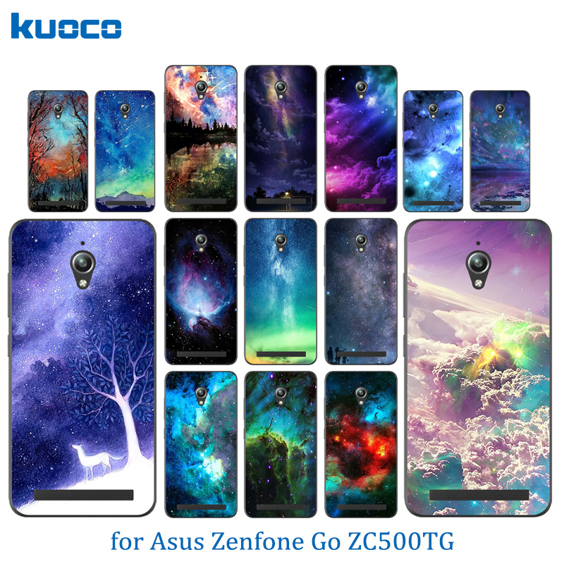 Soft Silicone Case For Asus Zenfone Go ZC500TG Back Cover Starry Sky Pattern For fundas Asus ZC ZC500 500 500TG TG Phone Case