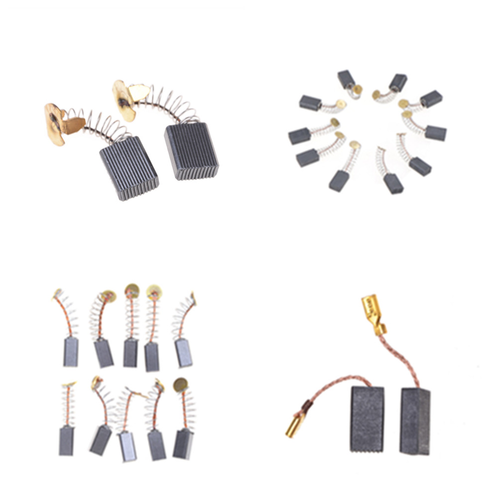5Sizes 10 Pieces Mini Drill Electric Grinder Replacement Carbon Brushes Spare Parts For Electric Motors Rotary Tool