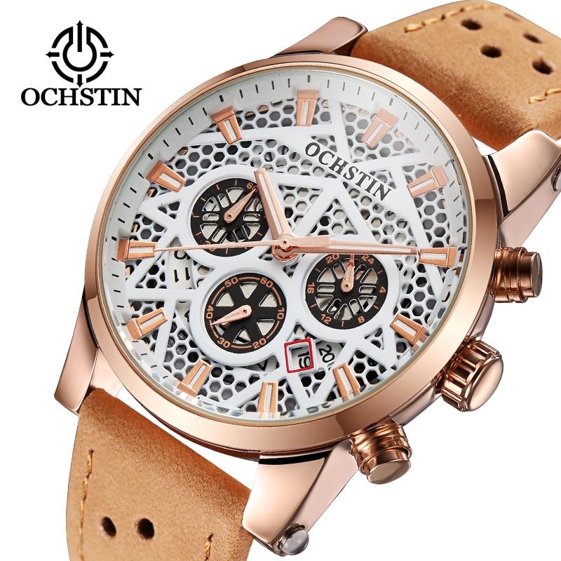 2f4a4681ab1 OCHSTIN Chronograph Data Relógio dos homens 3 Workable Sub-dials Relógio Do Esporte  Militar Relógio