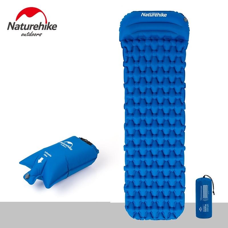 Naturehike Ultralight Outdoor Inflatable Cushion Sleeping Camping Mat Sleeping Pad Mattress for Camping Hiking Backpacking