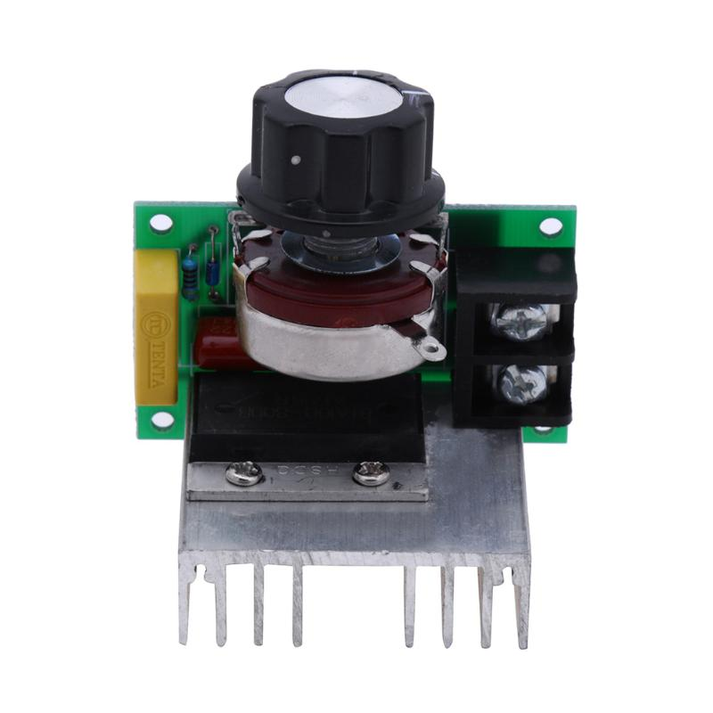 AC 220V 8000W High Power Voltage Regulator Dimming Dimmers Speed Controller Thermostat Electronic Voltage Regulator Module New ac 50 250v 2000w motor speed controller adjustable electronic voltage regulator thermostat dimming dimmers regulator module