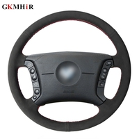 DIY Hand stitched Soft Comfortable Black Suede Leather Car Steering Wheel Cover for BMW E46 318i 325i E39 E53 X5