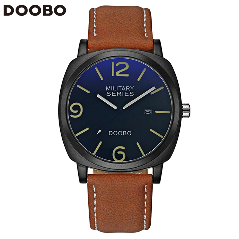 Mens Watches Top Brand Luxury Leather Strap Sports Army Military Quartz Watch Men Wrist Watch Clock relogio masculino DOOBO 2017 loreo casual mens watches brand luxury leather men military wrist watch fashion men sports quartz watch relogio masculino m32