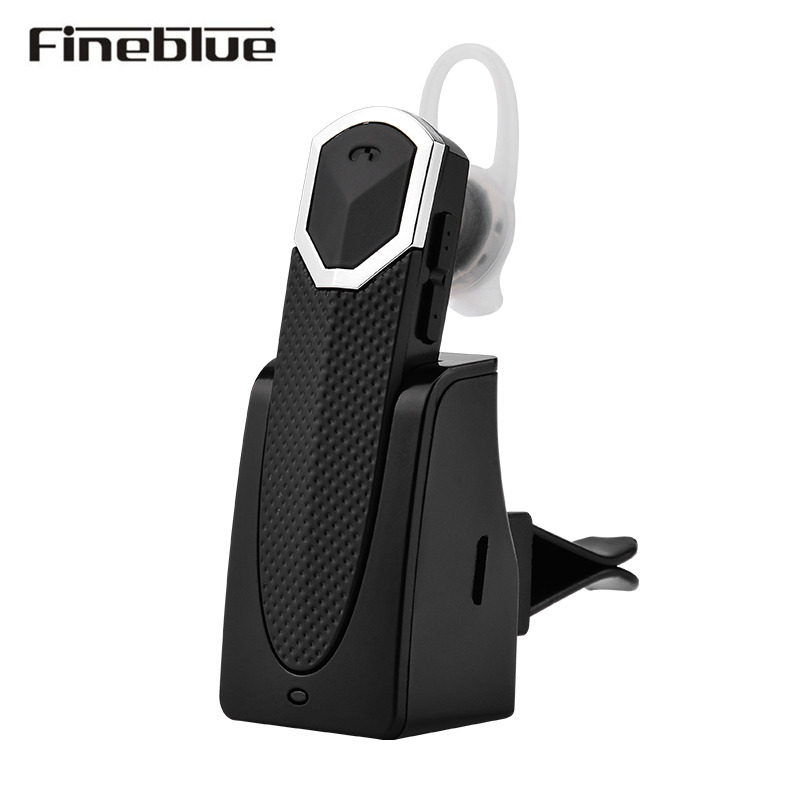 Fineblue FT-9 Wireless Bluetooth Earphone Earbuds Headset Hands-free A2DP with Charging Dock for iOS Android phone and Car wireless bluetooth headset two mini earphone together separate use stereo earbuds with charging dock for iphone android phone