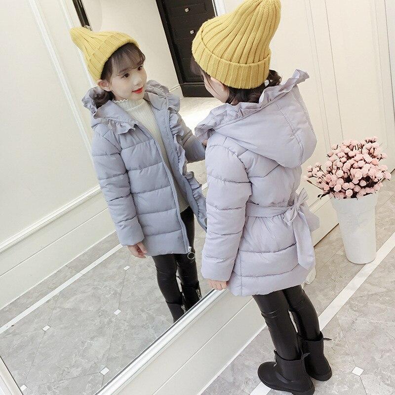 cf509ada4 2018 New Baby Girls Winter Warm Long Coat Kids School Hooded Jacket ...