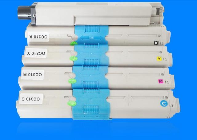 4PC/set new Color Toner Cartridge printer toner compatible for OKI MC351 MC352 MC361 MC362 C310 C330 C510  copier toner kit KCMY 1