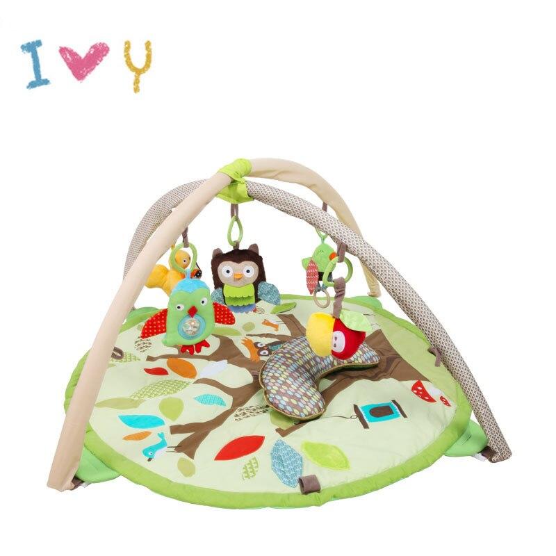 Mignon bébé rond forêt ramper Pad épaissi 2 cm bébé jeu couverture escalade Pad bébé Playmat