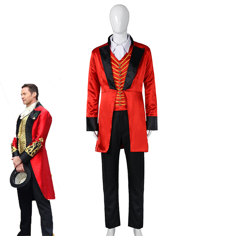 The Greatest Showman P.T. Barnum Cospaly Costume Adult and Kids Formal Suit Full Set Halloween Carnival Uniforms Custom Made