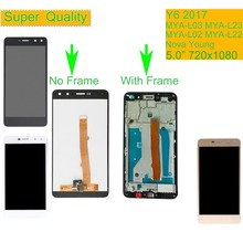 For Huawei Y6 2017 MYA-L03 MYA-L23 MYA-L02 MYA-L22 Nova Young LCD Display Touch Screen Assembly With Frame Y5 2017 MYA-L41 LCD цена