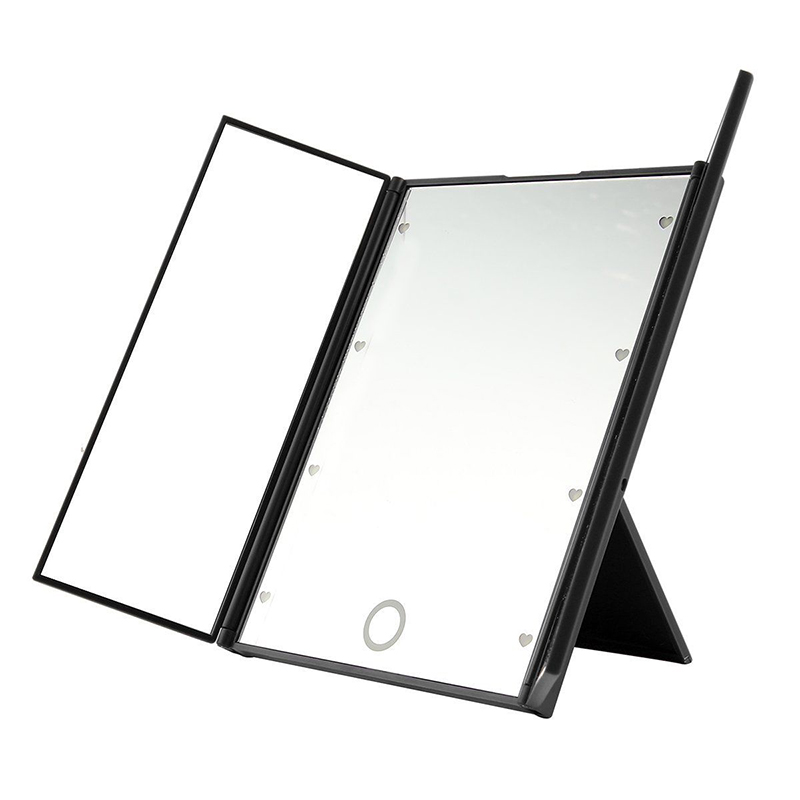 New Tri Sided 8 LED Light Makeup Mirror Cosmetic Vanity Mirror Portable  Square Shape HighPopular Portable Vanity Mirror Buy Cheap Portable Vanity  Mirror