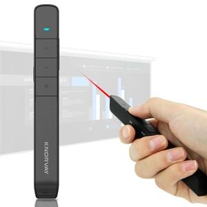 Image 2 - 2.4Ghz Usb Rf Wireless Presenter Handheld Pointer Ppt Afstandsbediening Met Rode Laser Pointer Pen Voor Power Point Presentatie