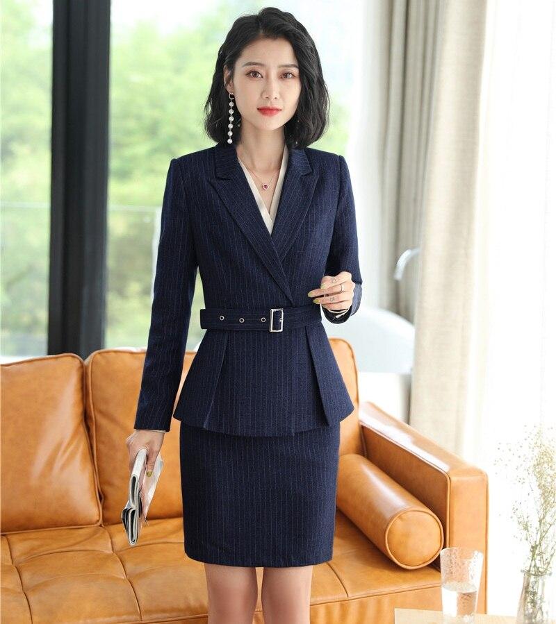 2019 Sommer Formale Elegante Frauen Blazer Rock Anzüge Schwarz Blazer Frauen Anzug Rock Und Jacke Sets Damen Arbeit Tragen