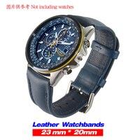 Замена для Citizen 23 мм AT8020-03L H800-S081165 синие ангелы кожаный ремешок