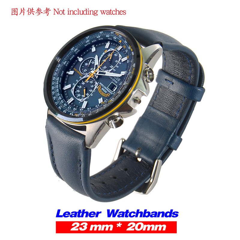 Replacement For Citizen 23mm AT8020-03L H800-S081165 Blue Angels Leather Band Strap