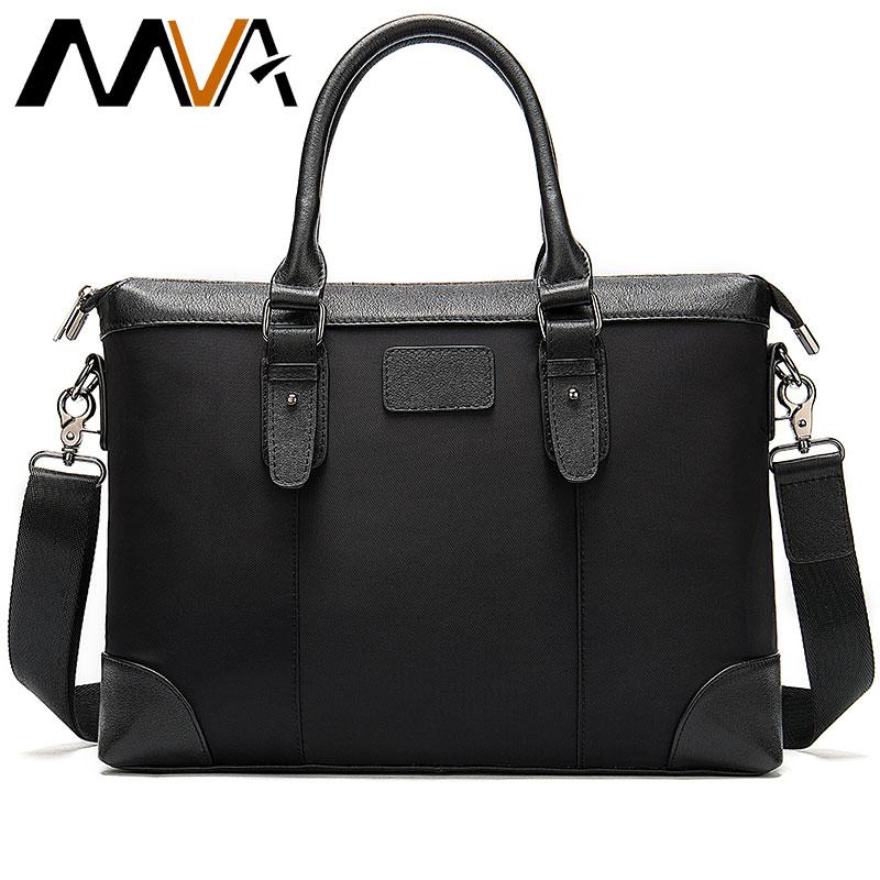 MVA Men Briefcase Bag For Document Men's Genuine Leather Bag Men Business/Office/Laptop Bag For Man Leather Bags Tote Handbag
