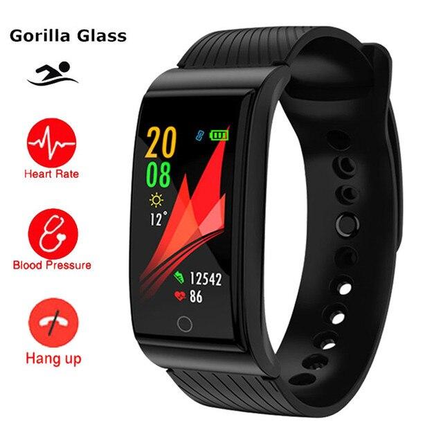 973bc0b944c5 Reloj inteligente para natación al aire libre con Monitor de ritmo cardíaco  y presión arterial para