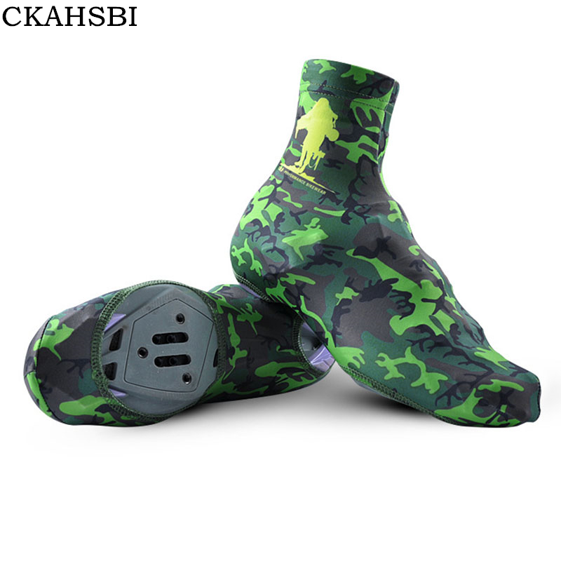 CKAHSBI Winter Cycling Overshoes Unisex Camouflage Windproof Lycra Dust-proof Outdoor Sport MTB Bike Bicycle Cycling Shoe Cover