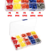 102pcs/set P1 P2 P3 P4 P6 Electrical Wire Twist Connectors Assorted Nut Connector Terminals Cap Rotating Kit 4 Colors