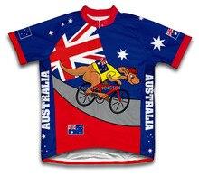 Australia Canguro Jinete Niños Ciclismo Jersey de Manga Corta de Secado rápido Ropa de Ciclo Desgaste de La Bicicleta Ropa Ciclismo
