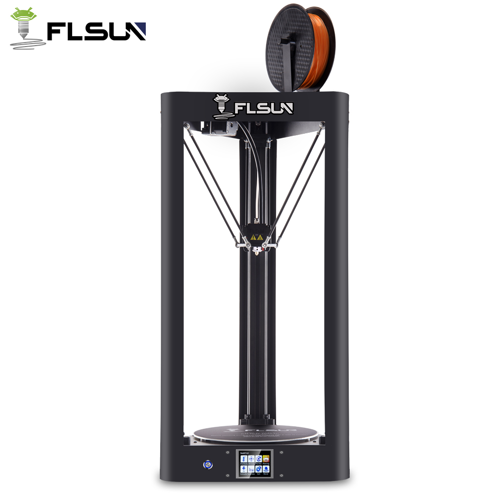 High Speed Metal Structure FLSUN 3D Printer Large Printing Size 260*260*350mm With Auto-leveling Touch Screen Hot Bed WIFI 5m length black grey 15mm spiral wire organizer wrap tube flexible manage cord for pc computer home hiding cable with clip