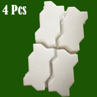 4 Pcs  Waves Shape Garden Path Concrete Plastic Brick Mold DIY Paving Pavement Walkway Cement Brick Molds maker plaster form