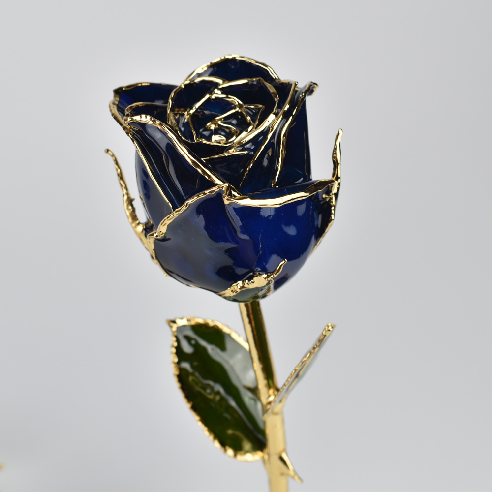 Unique Decoration Dipped 24k Gold Rose Flower Creative Lover with Gift Box