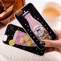 10pcs Lot Wholesale Girls Quicksand Case For Iphone 7 Case Silicon PC Dynamic Liquid Glitter Cover