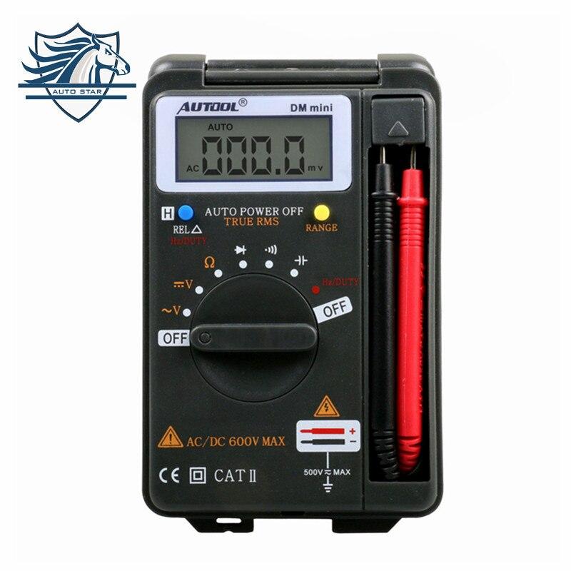 Prix pour Autool dm mini dmm intégré portable personnel pocket mini multimètre numérique ampèremètre auto gamme testeur même comme vc921