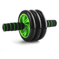 Unisex 3 wheels Bearing Roller Abdominal ABS Exercise Wheel Fitness Body Gym Strength Training Roller Machine