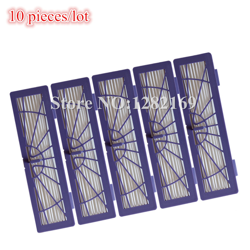 HEPA Dust Filter Replacement for Neato BotVac D3 d5 70e 75 80 85 series Robotic Vacuum Cleaner,10 pieces/lot Robot Parts 4pcs hepa filter for neato botvac 70e 75 80 85 series robotic vacuum cleaners robot high quality