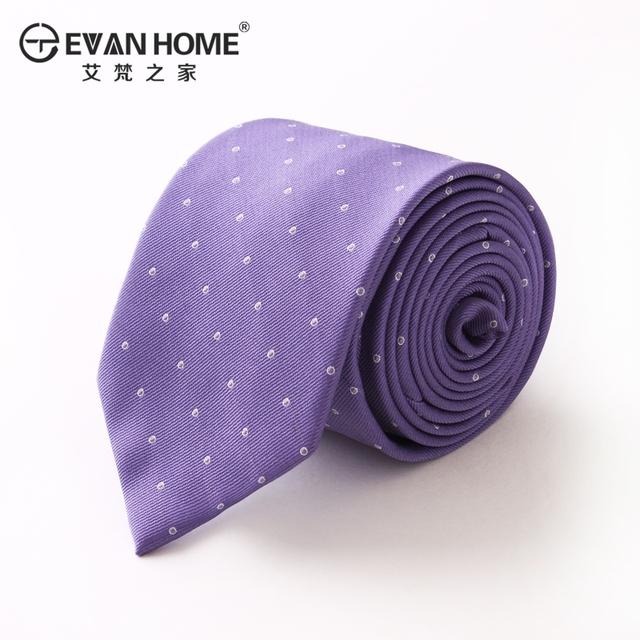 Alta Qualidade Noivo Laços Para Homens Formais Casado 7 cm Gravatás Laços Light Purple Rodada Dot com Caixa de Presente Homens Laço Entrega Gratuita