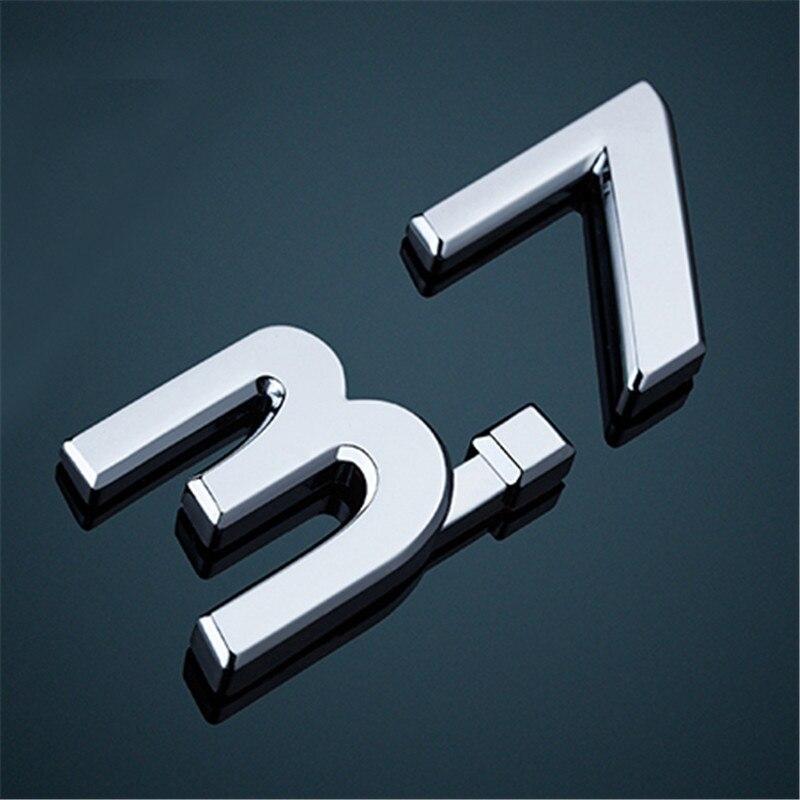 Image 3 - Naklejki samochodowe dla Infiniti Q50 Q50S IPL godło 3.7 godło S logo czerwony niebieski 1 sztuk naklejka z logo na bagażnik naklejana etykieta naklejki Car StylingListwy ozdobne   -