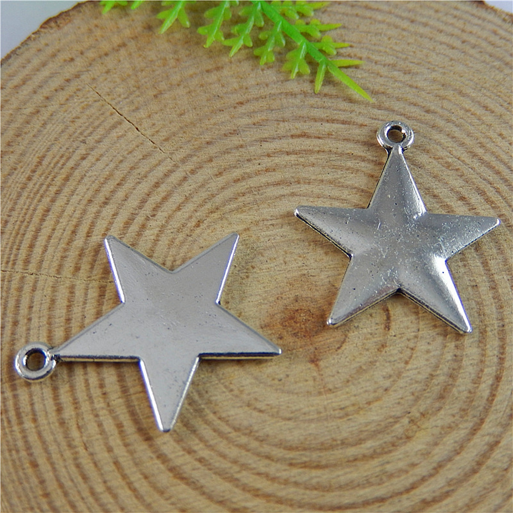 20pcslot Antique Silver alloy Pentagram Pendant  Pointed star Charms Fine Jewelry Making  22 * 19 * 1mm50813