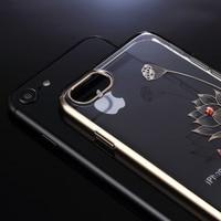KINGXBAR For IPhone 7 7 Plus 8 Case Authorized Swarovski Crystal Plating PC Back Phone Cover
