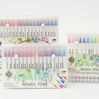 Real Brush Pens, 48 Colors for Watercolor Painting with Flexible Nylon Brush Tips, Paint Markers for Coloring, Calligraphy