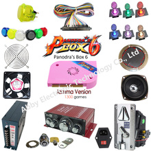 Video game Pandora Box 6+ 1300 in 1 DIY Arcade Bundles Kits Parts With Power Supply Jamma wire Coin selector