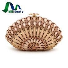 Milisente Marke Shell Form Kristall Kupplung Luxus Hochzeit Taschen Frauen Party Tag Erfasst Designer-handtaschen Dame Geldbörse
