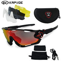 2017 Polarized Cycling Sunglasses Cycling Glasses Bicycle Running Fishing Sport Sunglasses Bicicleta Gafas Ciclismo 4pcs Lens